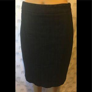 J. Crew Stretch Denim Pencil skirt Size 4